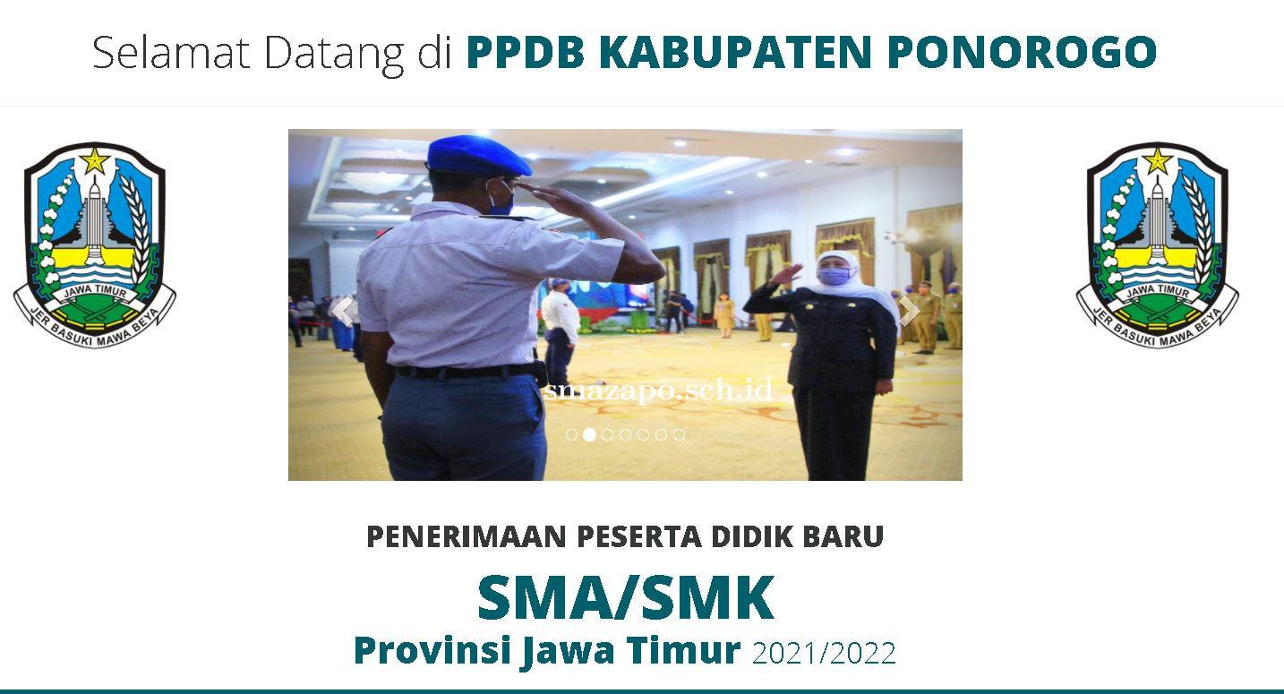 Penerimaan Peserta DidikBaru (PPDB) 2021 SMAN 1 Ponorogo
